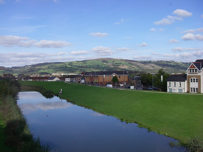 here's the picturesque countryside surrounding Castle Caerphilly