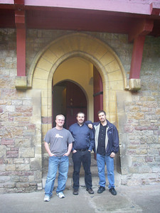 Ben, Bruce, Scott at Castle Coch (The Red Castle)