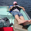 "Scout ""fishing"" on Lake Vermillion."