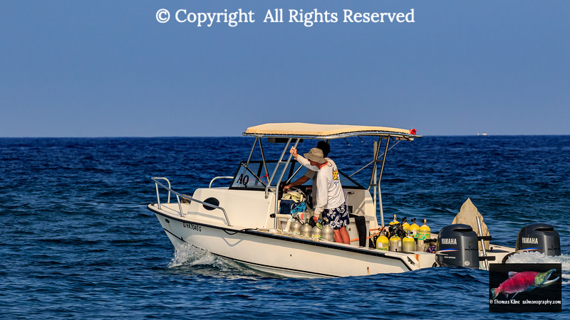 Small dive boat