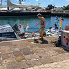 """... and some very small boats.  Nelson's Dock Yard is the end of a 3000 mile transatlantic rowing race.  The lady in the """"row"""" boat had just finished her solo crossing the day before (and, as we learned, doesn't know how to swim)."""