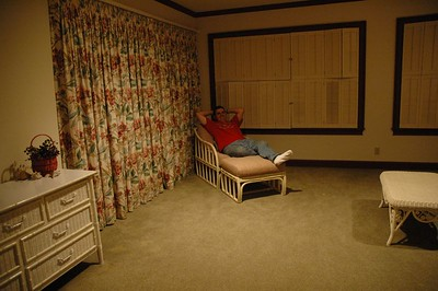 Bill chilling in the bedroom