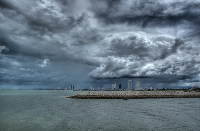 Stormy Skies over Pattaya City, Thailand