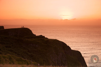 sunset Worms head - Gower - South Wales : UK