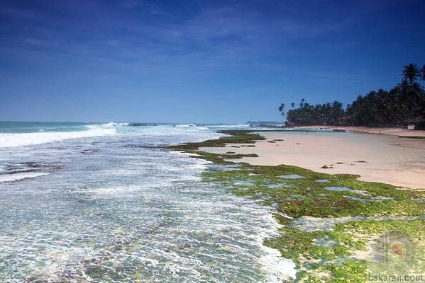 Rock pools at Unawatuna Beach : Sri lanka