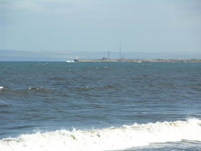 Choppy sea in the Tees Bay