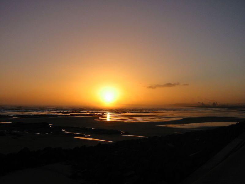 Sunrise over Seaton Beach, Hartlepool, England