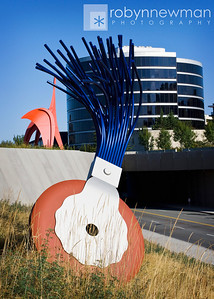 """Typewriter Eraser, Scale X"" by Claes Oldenberg and Coosje van Bruggen - 1999.  Located in the Seattle Art Museum's Olympic Sculpture Park.  19 ft 4 in x 11 ft x 11 ft"