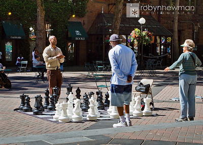 Oversized Chess game in Pioneer Square, Seattle Washington (photo 08/2010)