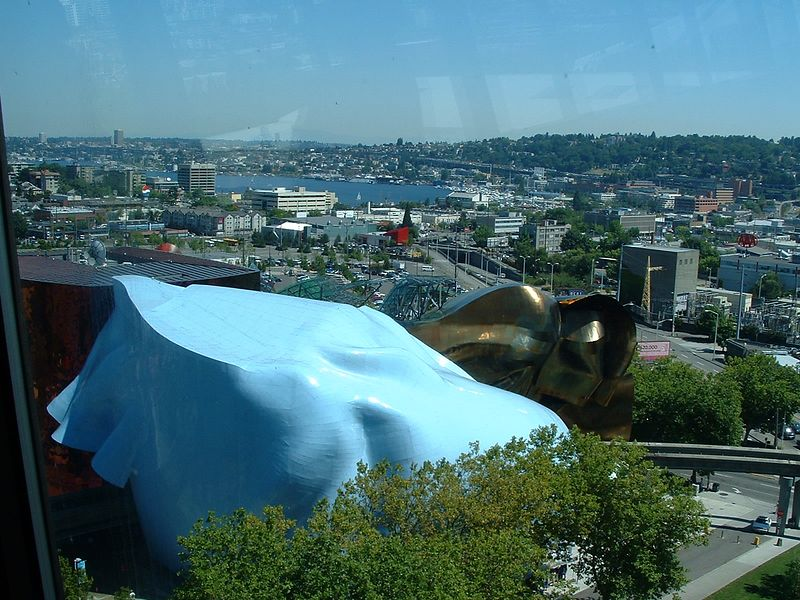 Seattle from the Space Needle: Experience Music Project