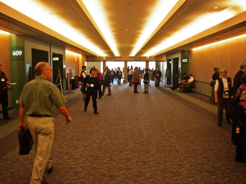 Now for the conference.  Many hallways, many escalators, many people!
