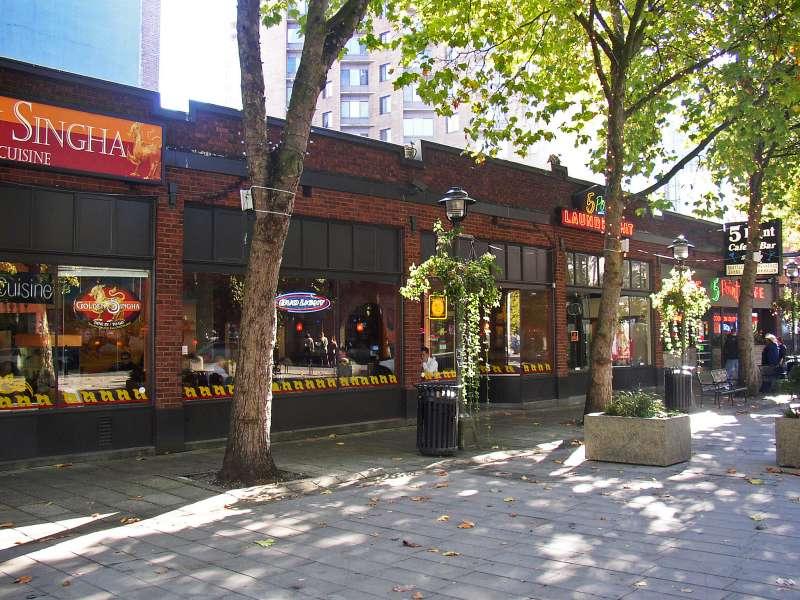 "A very ""tony"" little plaza..."