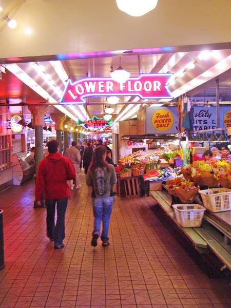 Pike's Market has many floors beside the famous first floor.