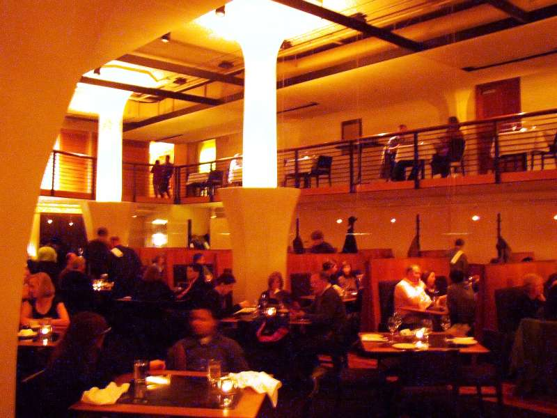 """The inside of """"Wild Ginger"""", a very upscale Chinese Restaurant."""