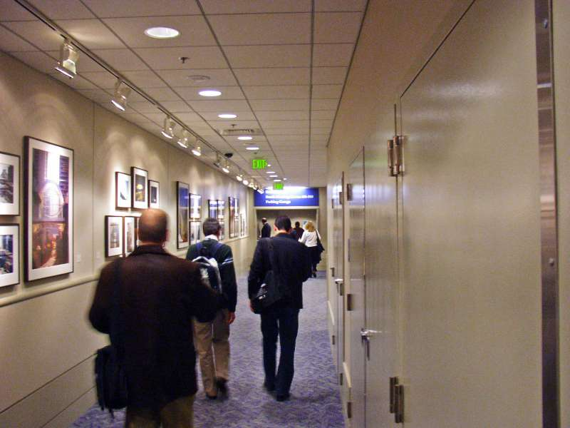 and walk corridors!  Gee, conferences can be so stimulating!