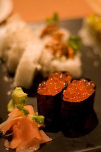 We sampled lots of fresh sushi