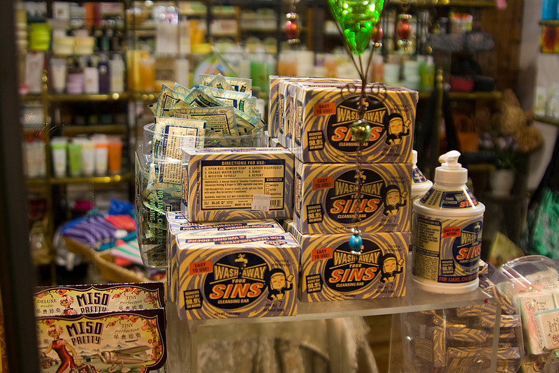 Curious soap in a soap shop at Pike Place Market.