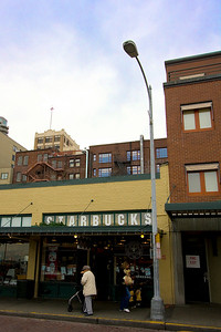 This is the original Starbucks at 1912 Pike Place - it was moved from 2000 Western Ave in 1976.