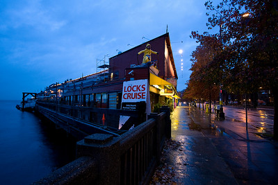 It was pretty rainy every day.  We stayed right on the water (Puget Sound) at Harbor Steps.  This is one of the many businesses right on the wharf.