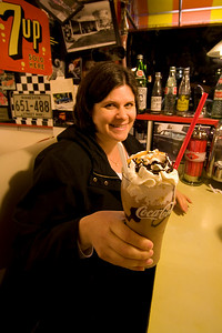 Darcie's fancy milkshake.
