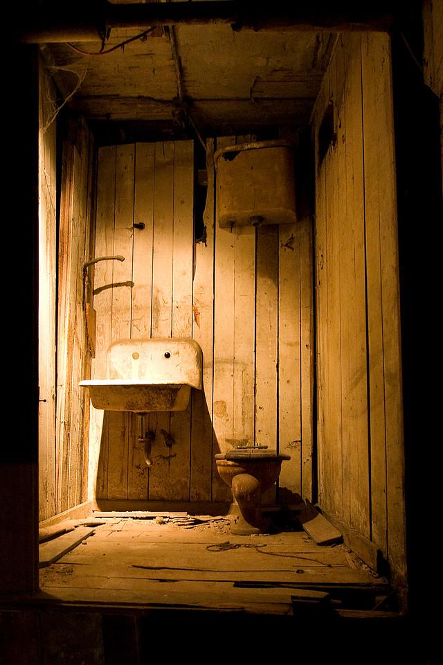 Old washroom on the tour