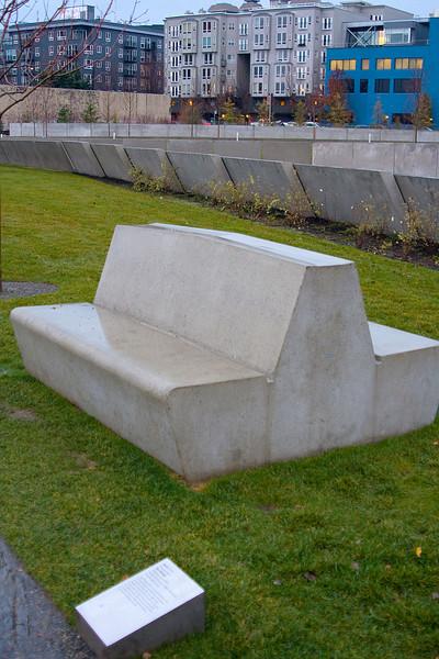 No, it's not a bench, it's art!