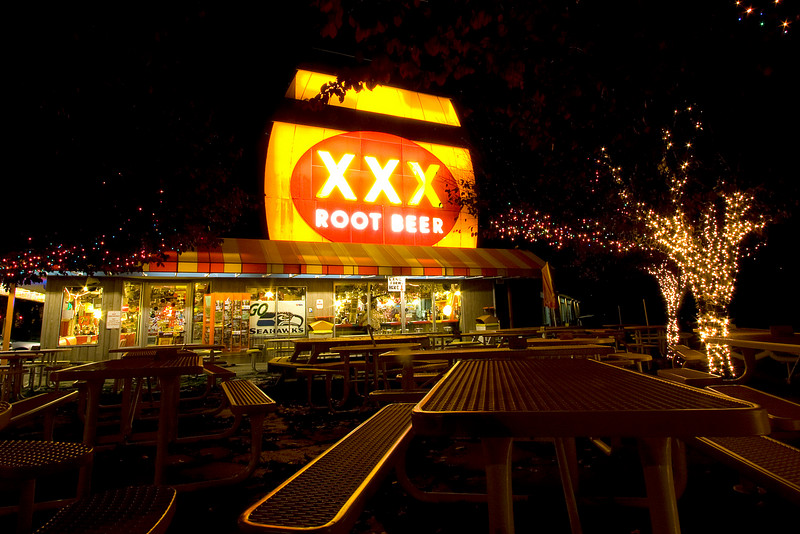 We visited the Triple X Root Beer  in Isaquah on the way back from the falls.  This place was a blast!