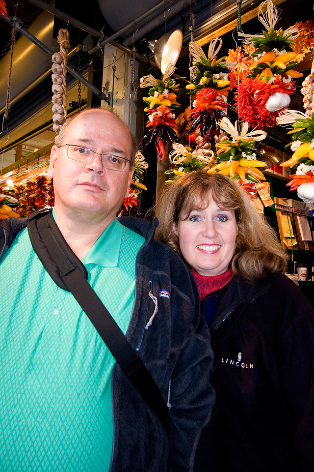 Uncle Bob and Auntie Honey Bunny at Pike Place Market