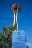 The Space Needle, built for the 1962 World's Fair, it is on the 74 acre Fair site, along with the Pacific Science Center, Museum of Pop Culture, Chiilhuly Garden and Glass museum, and numerous other attractions. The next umpty-ump pictures are in the 74 acre site.