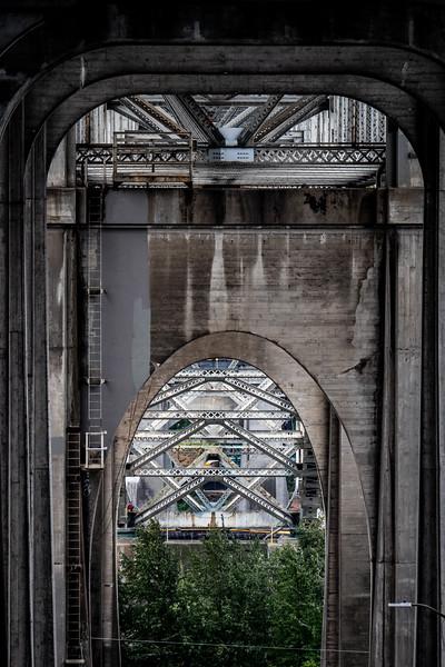 Aurora bridge, underside