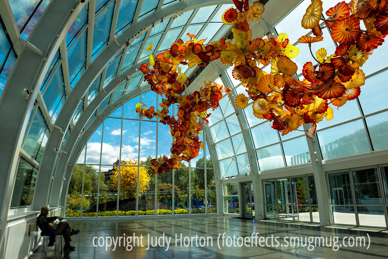 Chihuly Glasshouse with Glass Sculptures