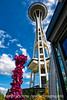 Space Needle and Chihuly Sculpture