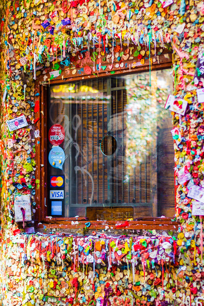 ~~ Check in Window ~~<br /> <br /> A Vibrant shot at Gum Wall near Seattle Waterfront.