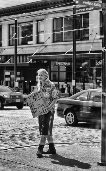 ~~ Thats all I need ~~<br /> <br /> Street shot near pikes market in downtown.