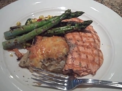 Lunch at Cutters, Grilled Salmon