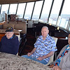 Herm Chambers, Clem, and Ron Zorn in Space Needle restaurant
