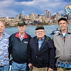 Clem, Mike, Herm, Ron posing at Space Needle