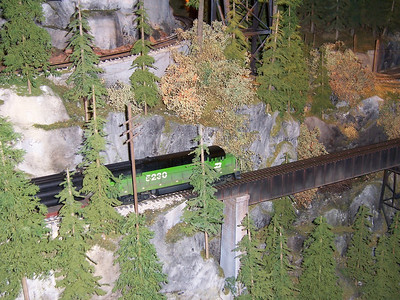 The running train display.
