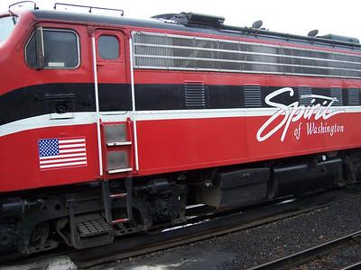 The Spirit of Washington Dinner Train.  Very fun.