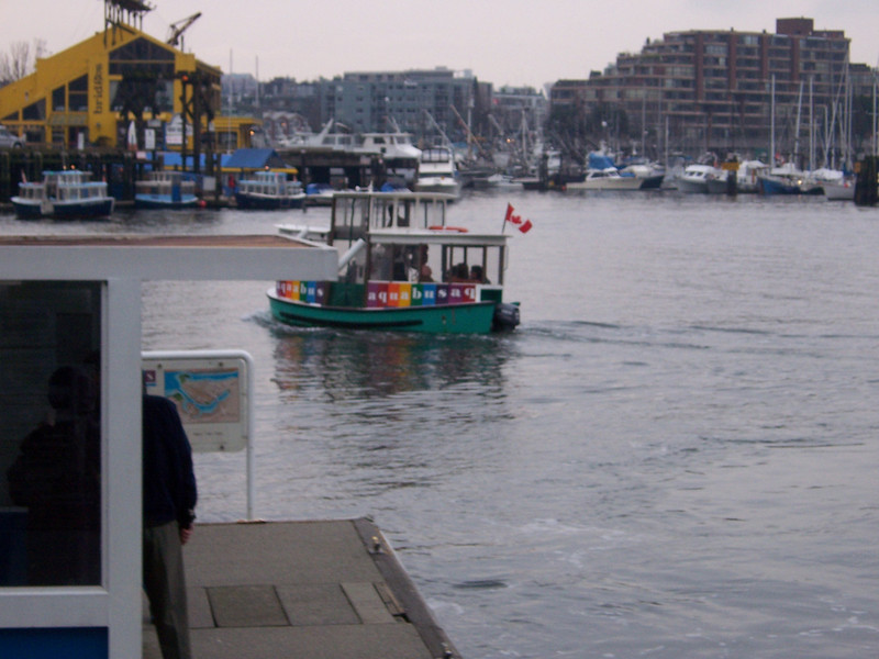 Takin' the ferry to Granville Island, Vancouver.