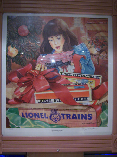 Lionel trains for girls (like Holly).  Awesome.