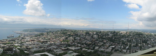 Panoramic View Taken at the top of the Space Needle