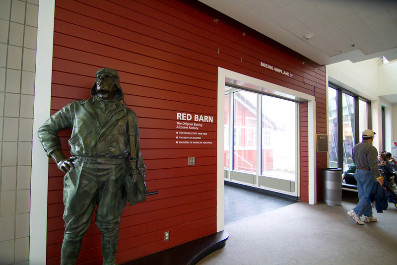 Entrance to the Boeing Red Barn