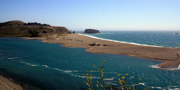 Sonoma Coastline at Jenner: Mouth of the Russian River; 14 Aug 2009