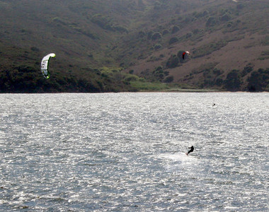 Windsurfers on Tomales Bay, 14 Aug 2009