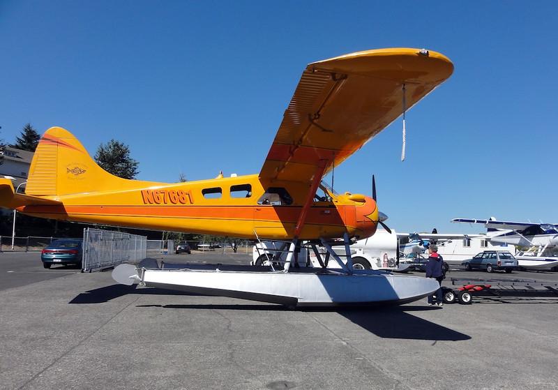 Joyce Inspecting the Aircraft
