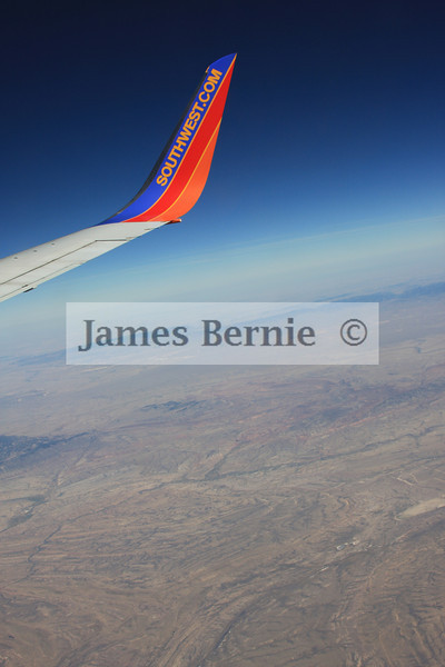 In flight, Denver, Co, Seattle, WA, Southwest Airlines, September 2008