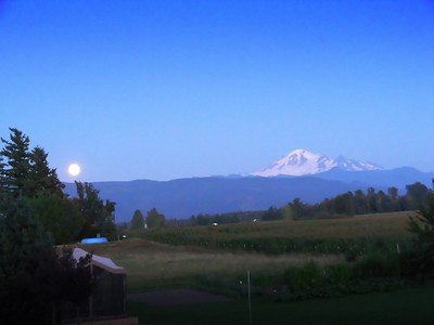 Mt. Baker as seen from Jim and Sharon's deck.