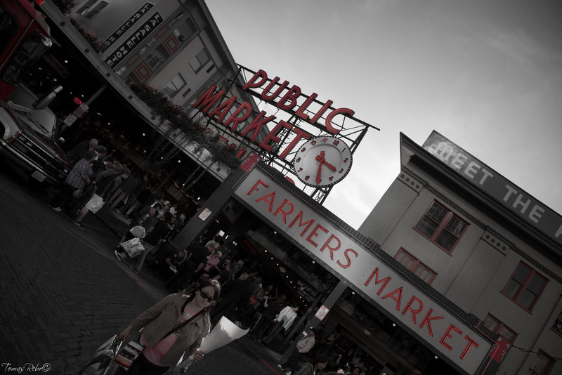 Public market, Seattle, USA