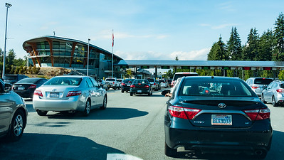 Aug 03 5:20PM - At Peace Arch border crossing between Washington and Canada